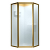 American Standard 22-5/8-in W x 65-in H Polished Brass Framed Neo-Angle Shower Door