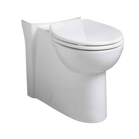 American Standard Cadet Chair Height White 12-in Rough-In Round Toilet Bowl