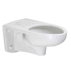 American Standard Afwall Chair Height White Wall-Hung Rough-In Pressure Assist Elongated Toilet Bowl