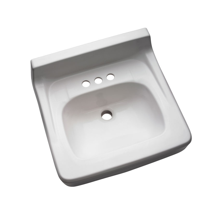 Shop Crane Plumbing Harwich White Wall-Mount Rectangular Bathroom Sink ...