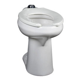 Crane Plumbing Ecohymont Chair Height White 12-in Rough-In Pressure Assist Elongated Toilet Bowl