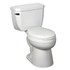 Crane Plumbing Economiser White 1.28 GPF High Efficiency WaterSense Elongated 2-Piece Toilet