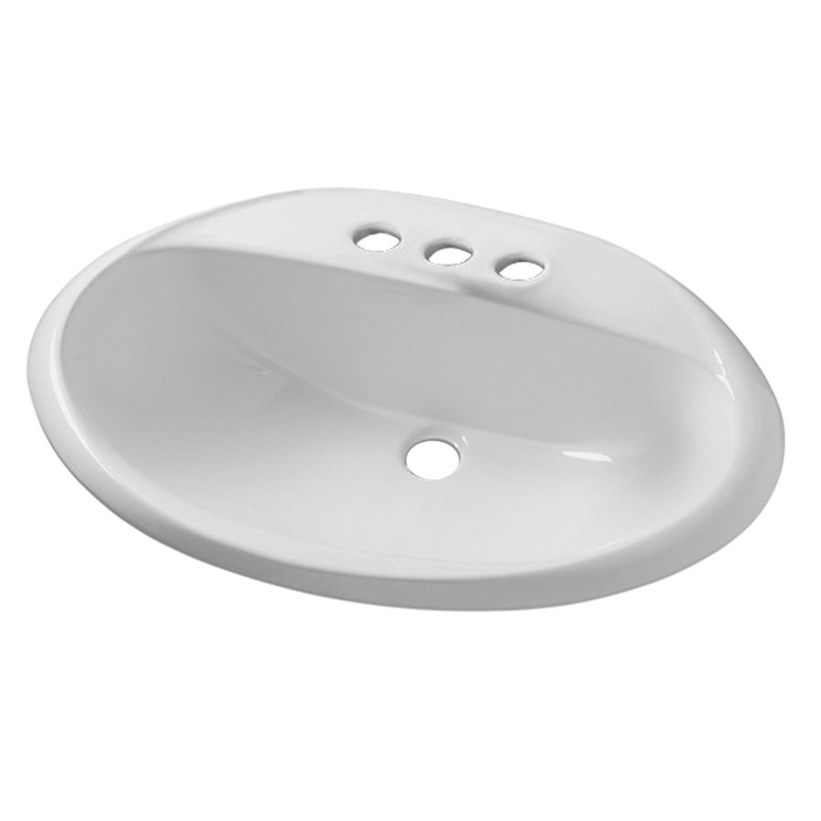 Bathroom Sink Drop In : ... Ohio White Drop-In Oval Bathroom Sink with Overflow at Lowes.com