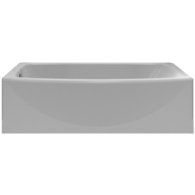 Display product reviews for Saver Arctic Acrylic Oval In Rectangle Skirted  Bathtub with Left-Hand