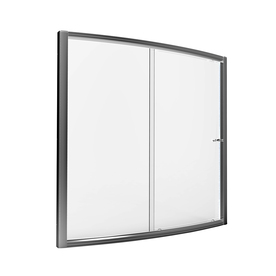 American Standard Saver 57-in to 59-in W x 57.5-in H Silver Sliding Shower Door