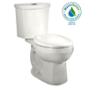 American Standard H2Option White 1.6 GPF High Efficiency WaterSense Round Dual-Flush 2-Piece Toilet
