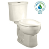 American Standard H2Option Linen 1.6; 1.1-GPF 12-in Rough-in WaterSense Round Dual-Flush 2-Piece Comfort Height Toilet