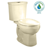 American Standard H2Option Bone 1.6 GPF High Efficiency WaterSense Round Dual-Flush 2-Piece Toilet
