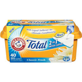 ARM & HAMMER 40-Count Total 2-in-1 Dryer Cloths - Classic Fresh