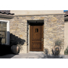 JELD-WEN Aurora 2-Panel Insulating Core Left-Hand Inswing Caramel Fiberglass Stained Prehung Entry Door (Common: 36-in x 80-in; Actual: 37.5-in x 81.75-in)