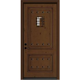 JELD-WEN 36-in 2 Panel Caramel Inswing Entry Door
