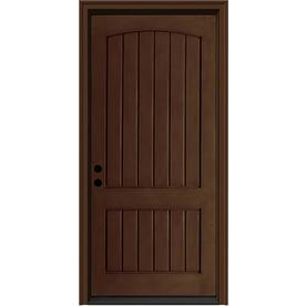 JELD-WEN Aurora 2-Panel Insulating Core Right-Hand Inswing Caramel Fiberglass Stained Prehung Entry Door (Common: 36-in x 80-in; Actual: 37.5-in x 81.75-in)