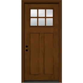 JELD-WEN 36-in 2 Panel Clear Cashmere Inswing Entry Door
