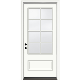 JELD-WEN 36-in Three Quarter Lite Clear Ivory Inswing Entry Door