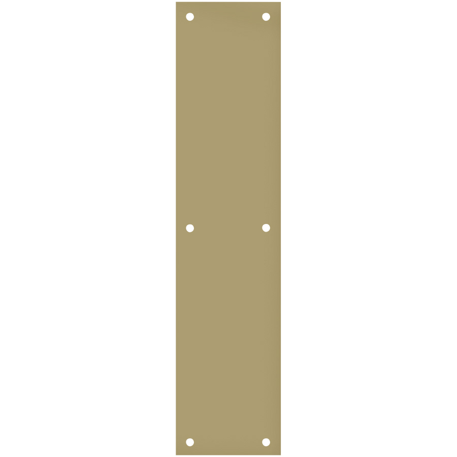 Shop gatehouse 3 5 in x 15 in polished brass aluminum for Door push plates