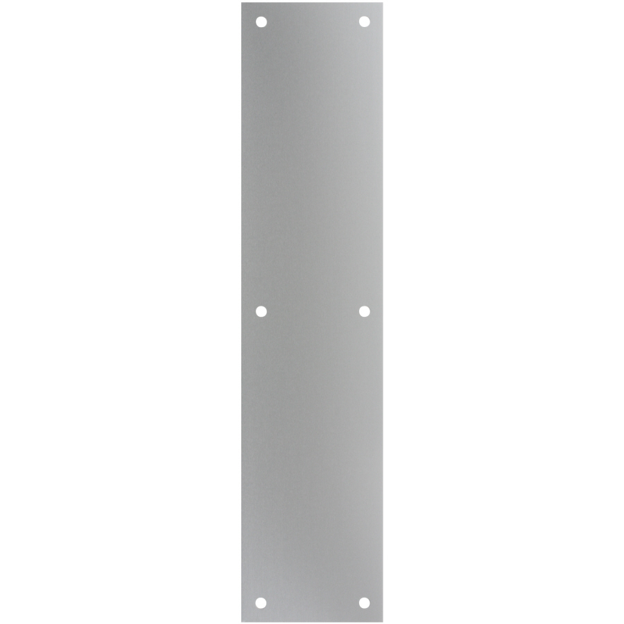 Shop gatehouse 3 5 in x 15 in aluminum aluminum entry door for Door push plates