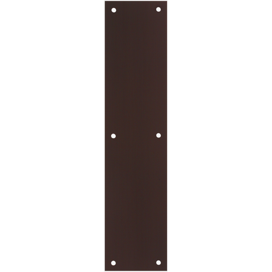 Shop gatehouse 3 5 in x 15 in oil rubbed bronze aluminum for Door push plates
