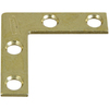Stanley-National Hardware 4-Pack 0.375-in x 1.5-in Brass Flat Braces