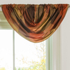 allen + roth Emilia 36-in Rust Polyester Rod Pocket Valance