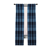 allen + roth 63-in L Blue Emilia Curtain Panel