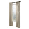 allen + roth City Park 84-in L Striped Cream Grommet Window Curtain Panel