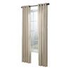 allen + roth City Park 84-in L Striped Cream Grommet Window Curtain Panel
