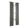 allen + roth City Park 84-in L Striped Spa Grommet Window Curtain Panel