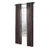 allen + roth City Park 95-in L Striped Chocolate Grommet Window Curtain Panel