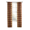 Style Selections&nbsp;84-in L Red Bernard Curtain Panel