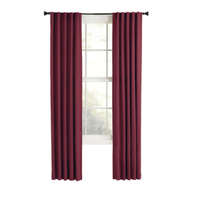 Style Selections Bernard 84-in Red Polyester Back Tab Single Curtain Panel