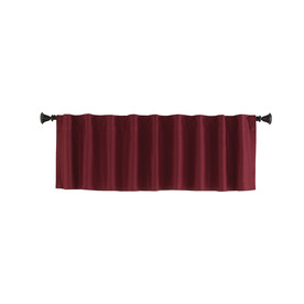 Style Selections Bernard 15-in Red Polyester Back Tab Valance
