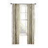 Style Selections Bernard 63-in L Striped Green Back Tab Window Curtain Panel