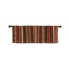 Style Selections 15-in L Red Bernard Tailored Valance