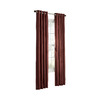 allen + roth City Park 84-in L Solid Sienna Grommet Window Curtain Panel