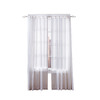 Simply Classic Carolyn 84-in L Striped Back Tab Window Curtain Panel