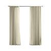 Solaris 96-in L Cream Canvas Solid Outdoor Window Curtain Panel