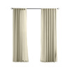 Solaris 108-in L Cream Canvas Solid Outdoor Window Curtain Panel