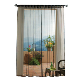 Display Product Reviews For Mesh 96 In Black Polyester Back Tab Light  Filtering Sheer Single