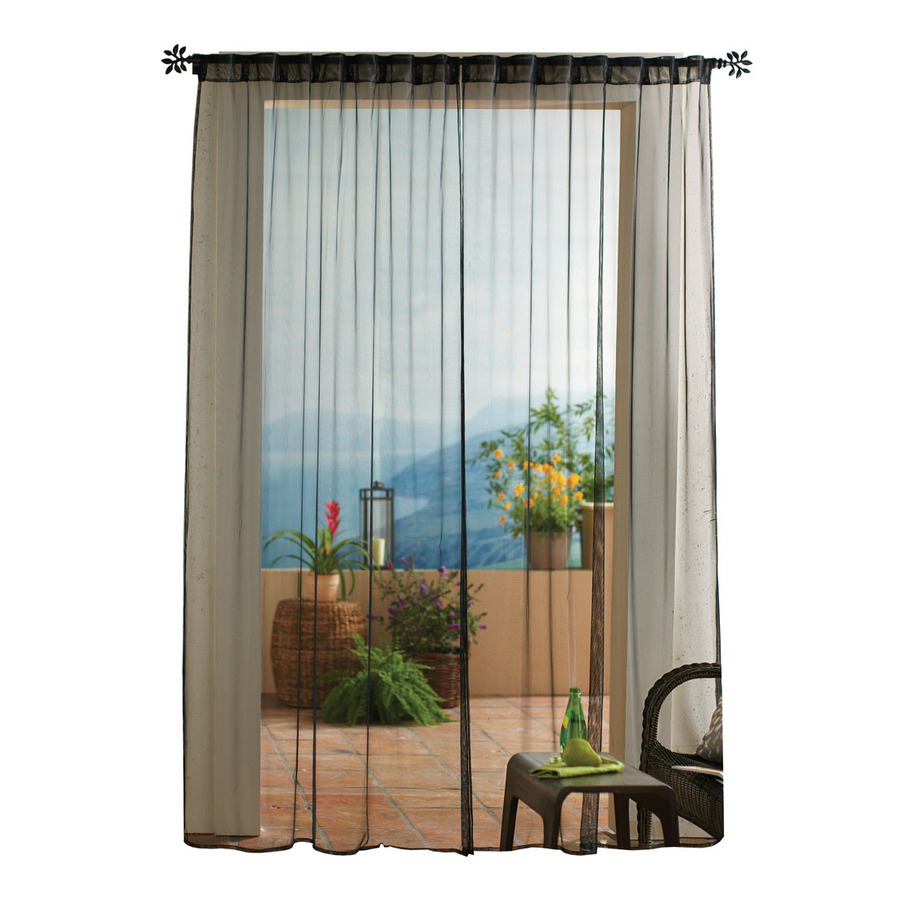 Shop Solaris 108 In L Black Mesh Outdoor Window Sheer