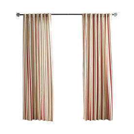 display product reviews for cabana stripe 96in red polyester back tab light filtering single