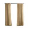 Solaris 108-in L Khaki Canvas Solid Outdoor Window Curtain Panel