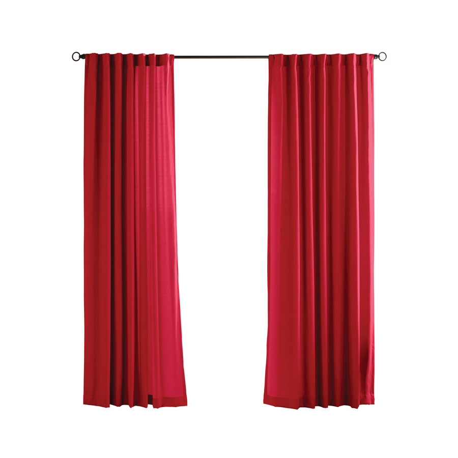 Shop Solaris 96 In L Red Canvas Solid Outdoor Window Sheer