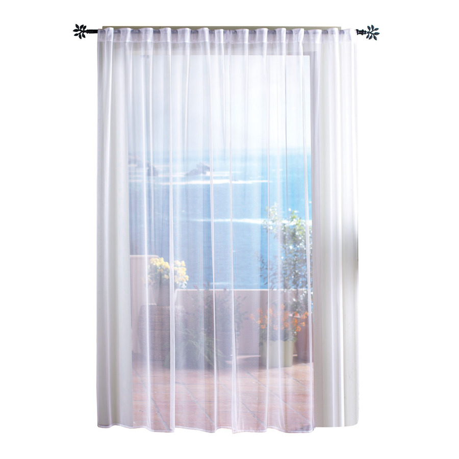 Shop Solaris 96 In L White Mesh Outdoor Window Sheer Curtain At