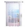 Solaris Mesh 96-in L White Outdoor Window Sheer Curtain