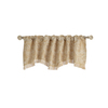 allen + roth Raja 16-in Gold Polyester Rod Pocket Valance