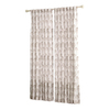 allen + roth Wintondale 84-in L Light Filtering Floral Neutral Back Tab Window Curtain Panel