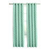 allen + roth Selwick 84-in L Light Filtering Geometric Blue Grommet Window Curtain Panel