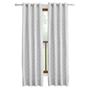 allen + roth Selwick 84-in L Light Filtering Geometric Grey Grommet Window Curtain Panel