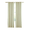 allen + roth Selwick 84-in L Light Filtering Geometric Neutral Grommet Window Curtain Panel