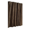allen + roth Polyester Espresso Shower Curtain